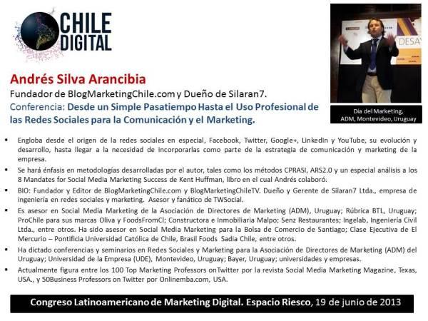 Andrés Silva Arancibia en ChileDigital