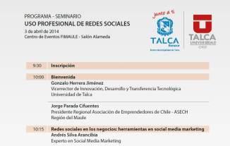 Seminario Uso Profesional de Las Redes Sociales. Universidad de Talca - ASECH