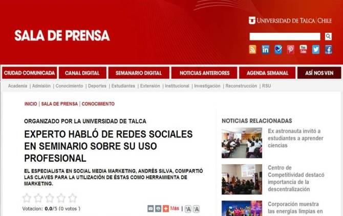 Experto Habló de Redes Sociales en Seminario Sobre su Uso Profesional.