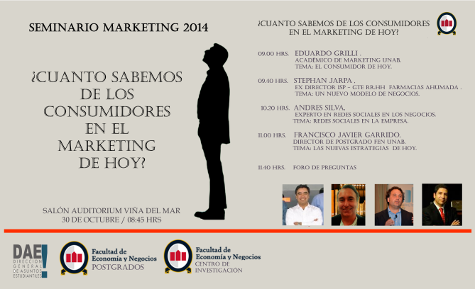 Seminario marketing y nuevo consumidor Unab Viña del Mar 2014