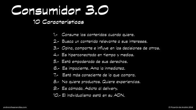 Las 10 Características del Consumidor 3.0