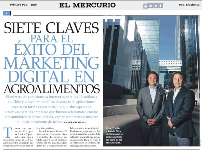 El Mercurio Rev del Campo Cesar Trujillo y Andrés Silva 2015