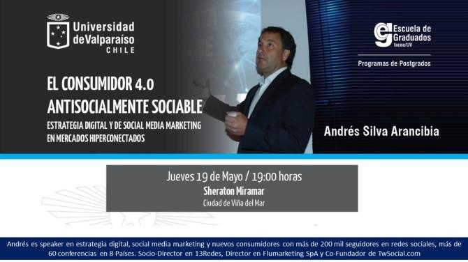 andres silva arancibia conferencia sheraton miramar 2016 Nuevos consumidores, redes sociales, meerketing digital