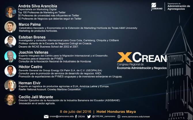 Andres Silva Arancibia XCrean 2016 Honduras Economía y Marketing