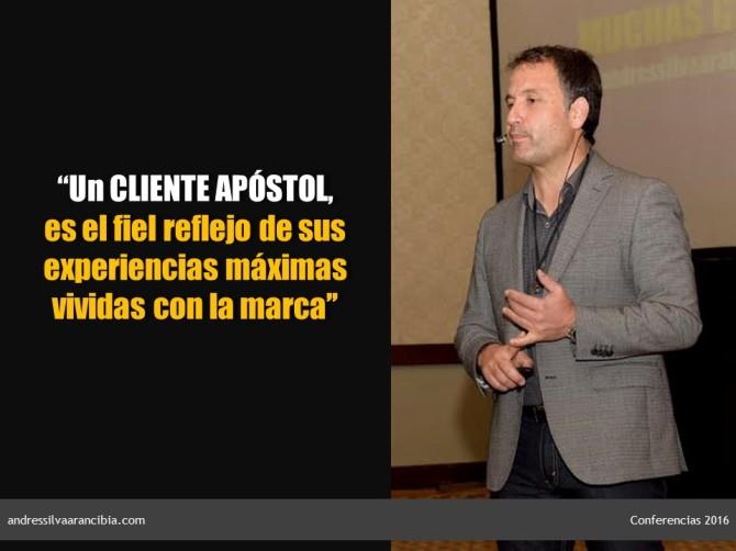 cliente apostol y experiencias Andrés Silva Arancibia conferencias 2016