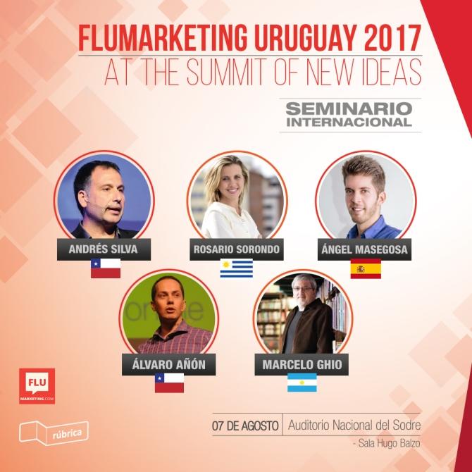 andres silva arancibia, seminario, marketing digital, redes sociales, flumarketing, rosario sorondo, marcelo ghio, angel masegosa, alvaro añon