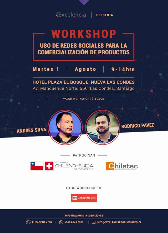 andres silva arancibia, conferencias, seminarios, workshop, taller, marketing digital, big data, experto, rodrigo pavez, flumarketing, conextrategia