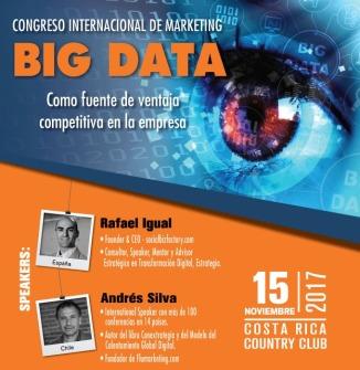 andres silva arancibia y rafael igual congreso internacional de marketing y big data, costarica 2017, marketing digital, charlas, conferencias, seminarios