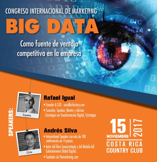 andres silva arancibia y rafael igual congreso internacional de marketing y big data, costarica 2017, marketing digital, charlas, conferencias, seminarios
