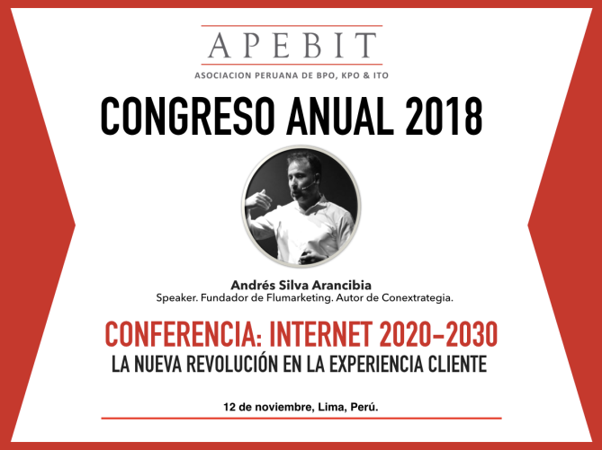 andres silva arancibia, marketing digital, eventos, congresos, seminarios, charlas, conferencias, talleres, experto, especialista, big data, IoT, transformación digital, Apebit 2018.