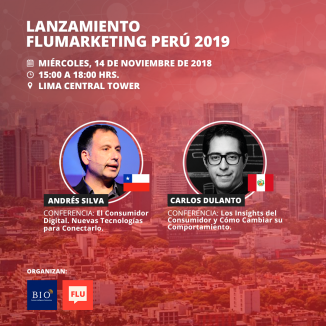 Flumarketing Perú. Lanzamiento 2018, lima, Carlos Dulanto, Andrés Silva Arancibia, Speaker, Marketing, Marketing Digital, customer