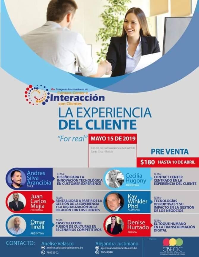 congreso experiencia cliente, andres silva arancibia, cx, marketing digital, santa cruz, bolivia